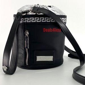 Versace Crossbody Bucket Bag Handbag Travel NEW
